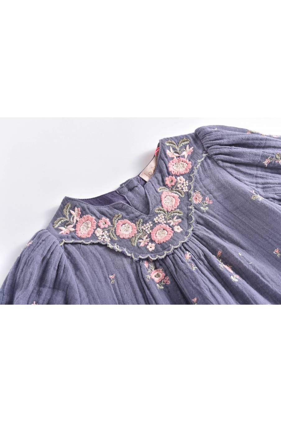 boheme chic vintage robe bébé fille ines storm flowers