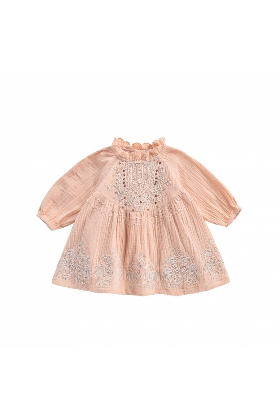 boheme chic vintage robe bébé fille suenna blush