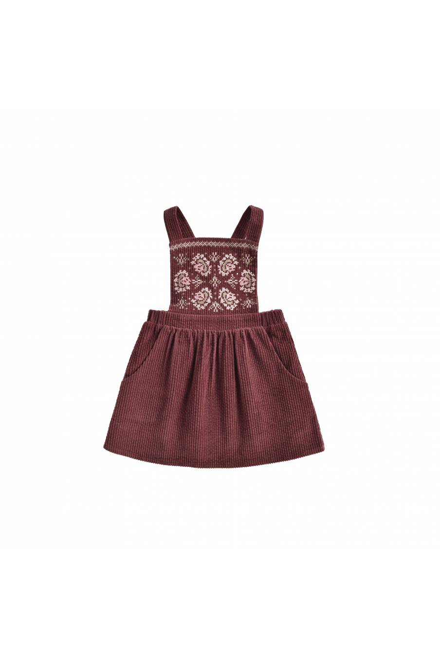 boheme chic vintage robe bébé fille liama aubergine velvet