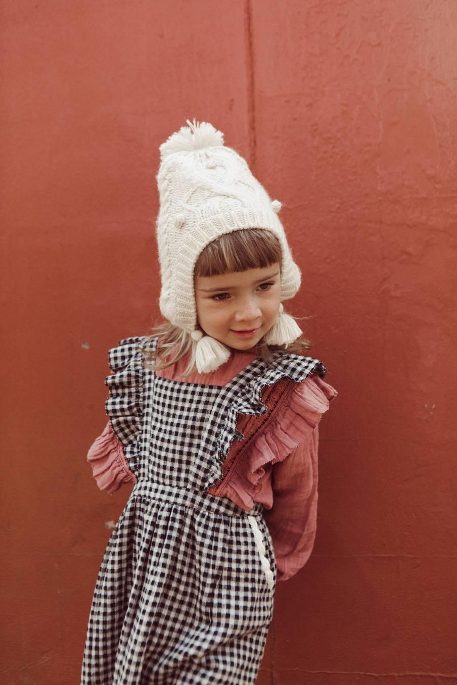 boheme chic vintage robe bébé fille asili black vichy