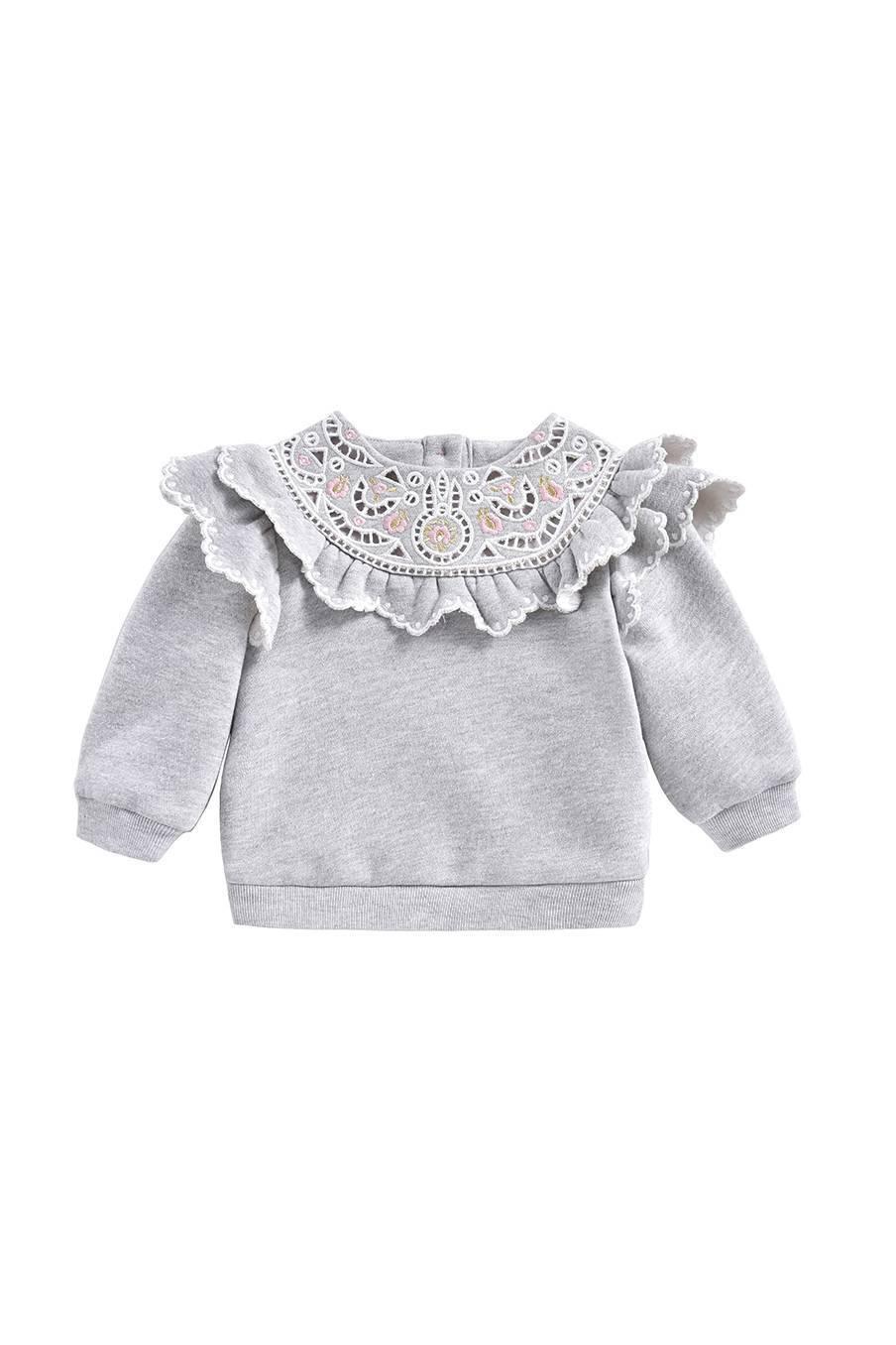boheme chic vintage sweat bébé fille ludmila gris