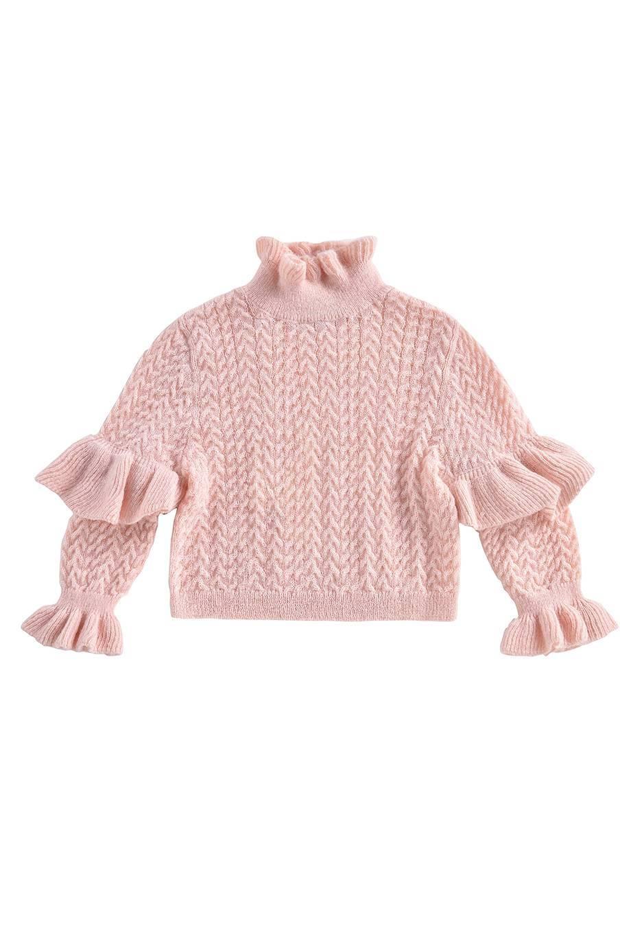 boheme chic vintage pull bébé fille jevo blush