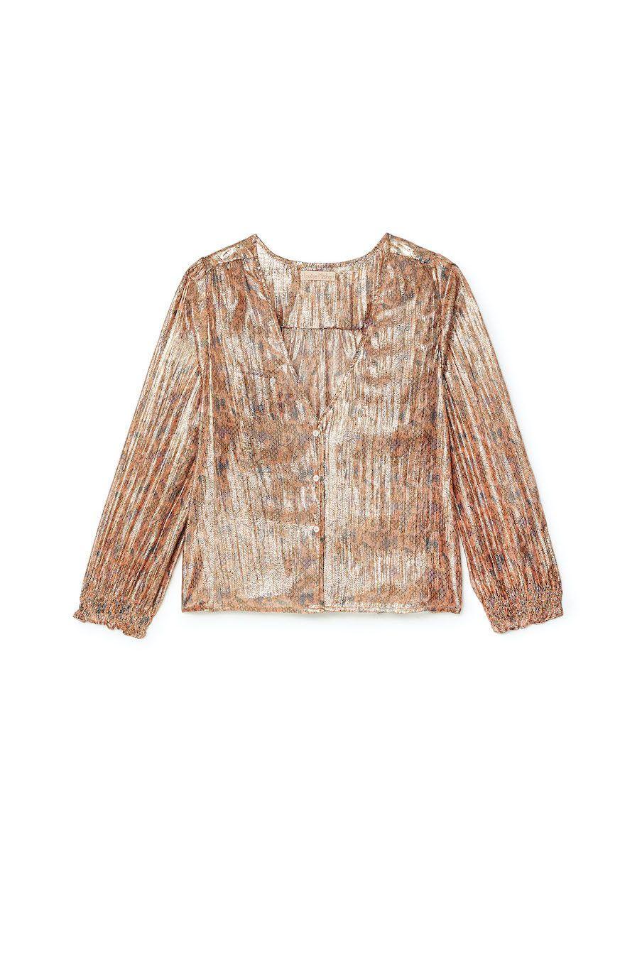boheme chic vintage blouse femme laurie sienna polka dots
