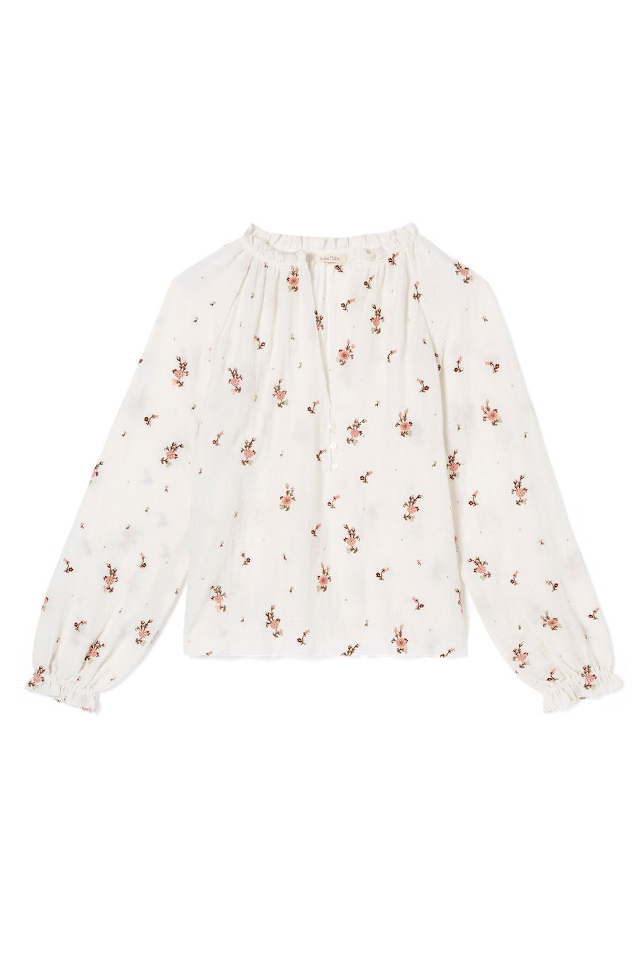 boheme chic vintage blouse femme leonora off-white flowers