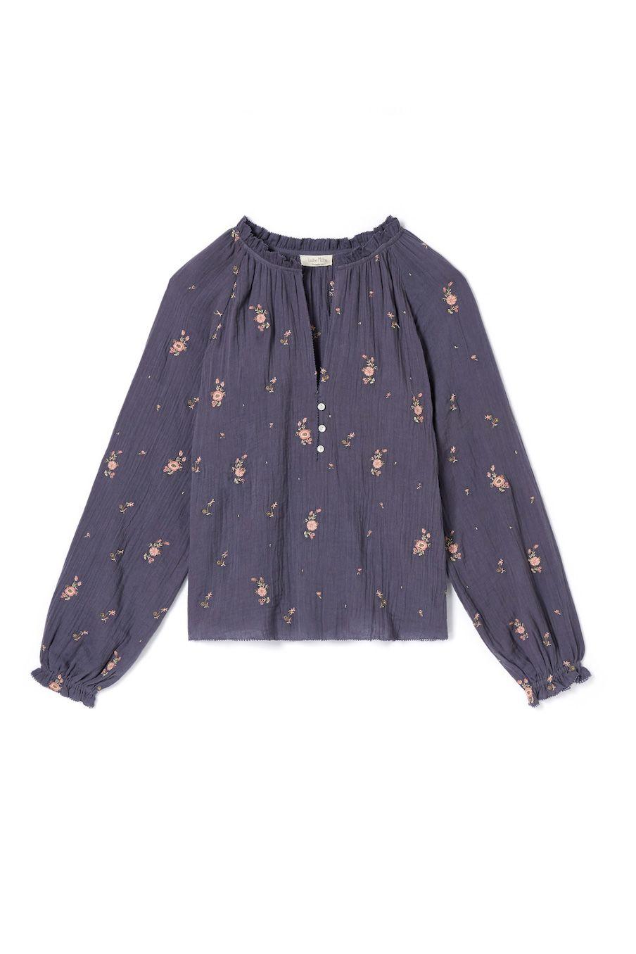 boheme chic vintage blouse femme leonora storm flowers