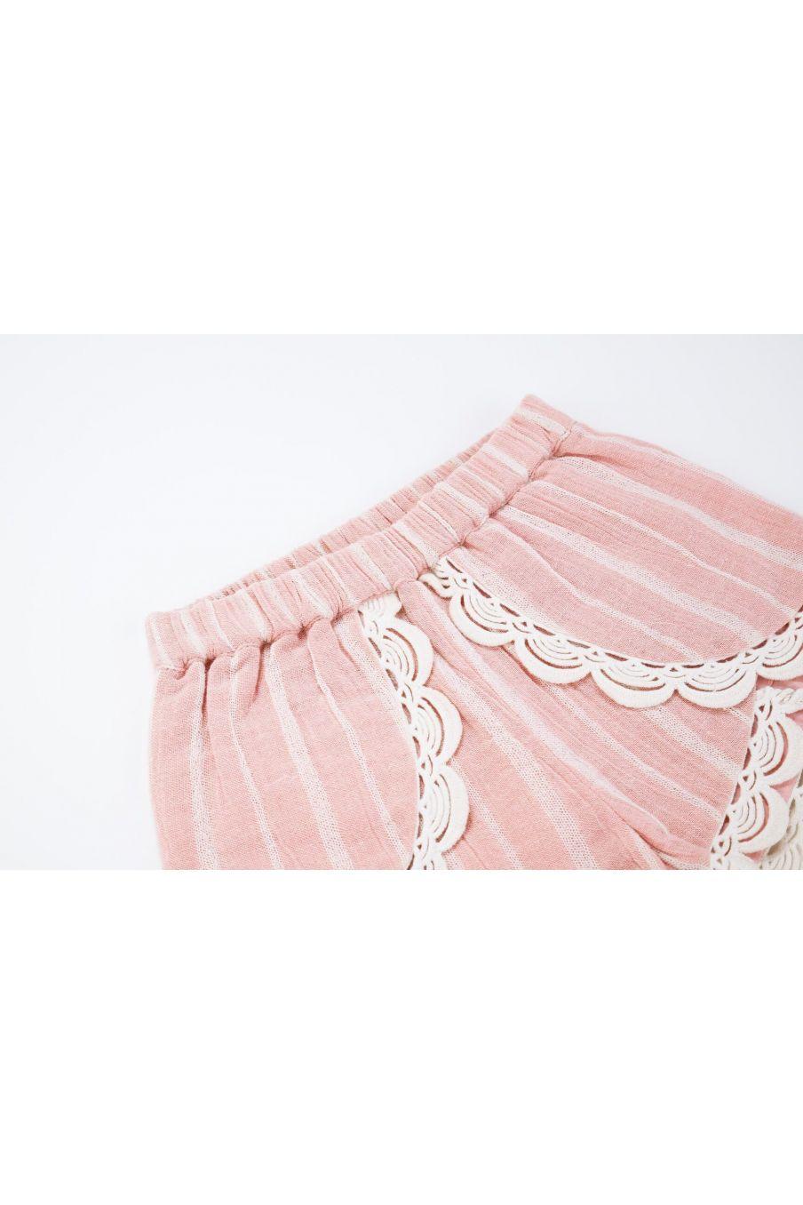 boheme chic vintage short fille kai blush stripes