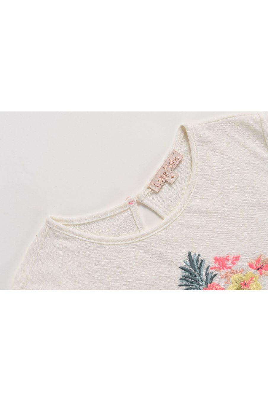 boheme chic vintage tee shirt fille adewale blanc