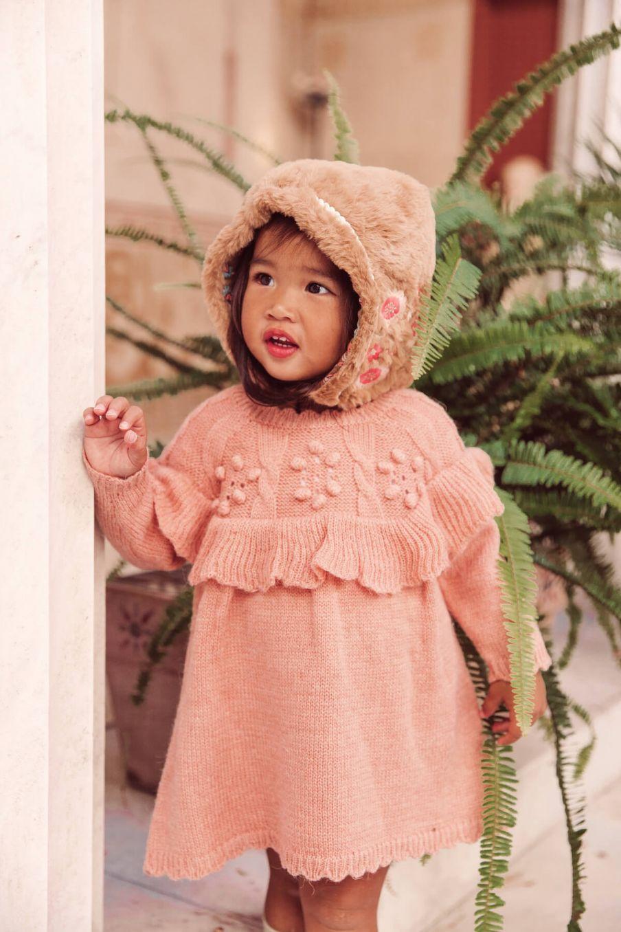 boheme chic vintage bonnet bébé fille inna noisette