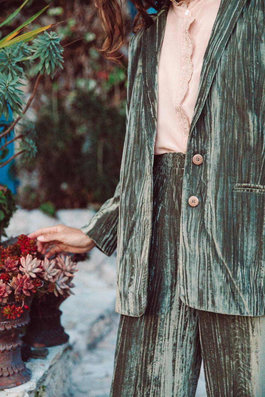 boheme chic vintage blouse femme edith blush