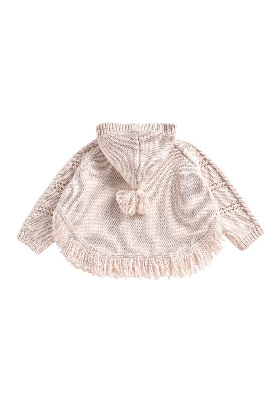boheme chic vintage cape bébé fille lili crème