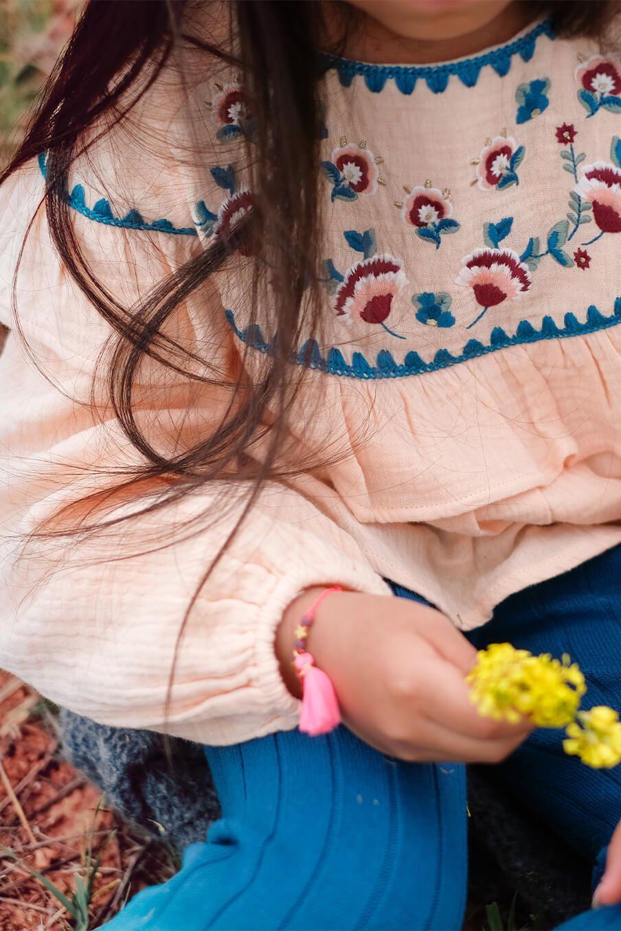 bohemian chic vintage bracelet girl manuela fluo pink