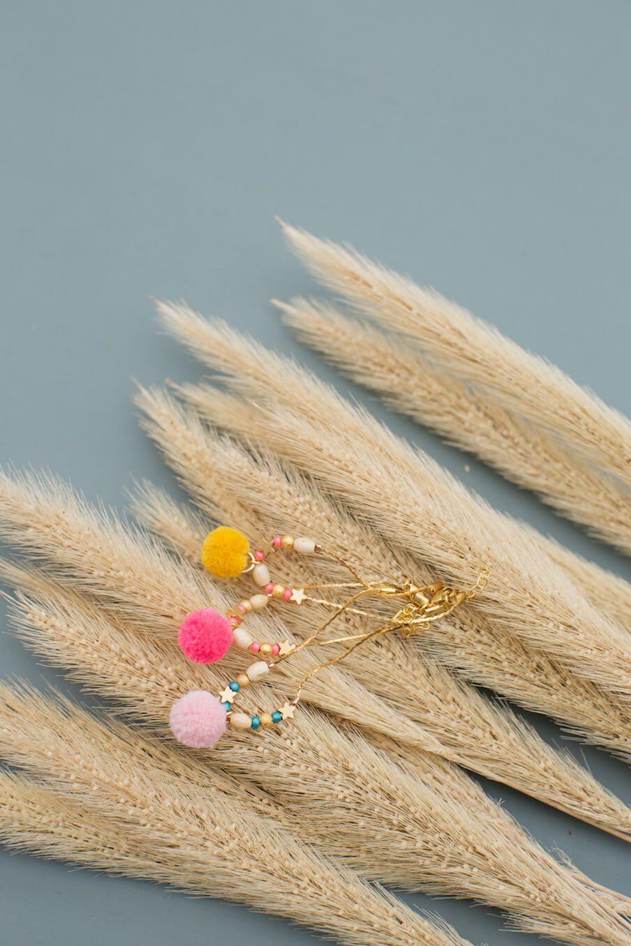 bohemian chic vintage bracelet girl manda fluo pink