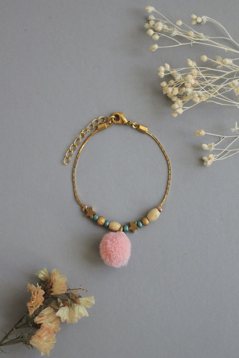 bohemian chic vintage bracelet girl manda blush