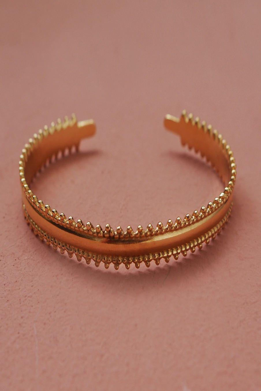 bohemian chic vintage bracelet woman clochka gold