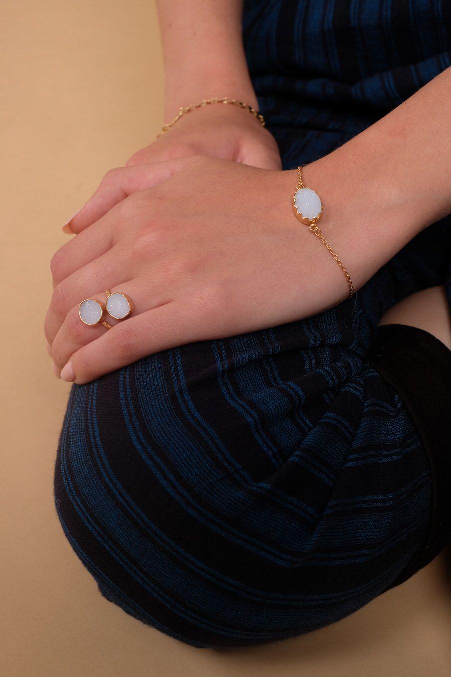bohemian chic vintage bracelet woman melodia ice