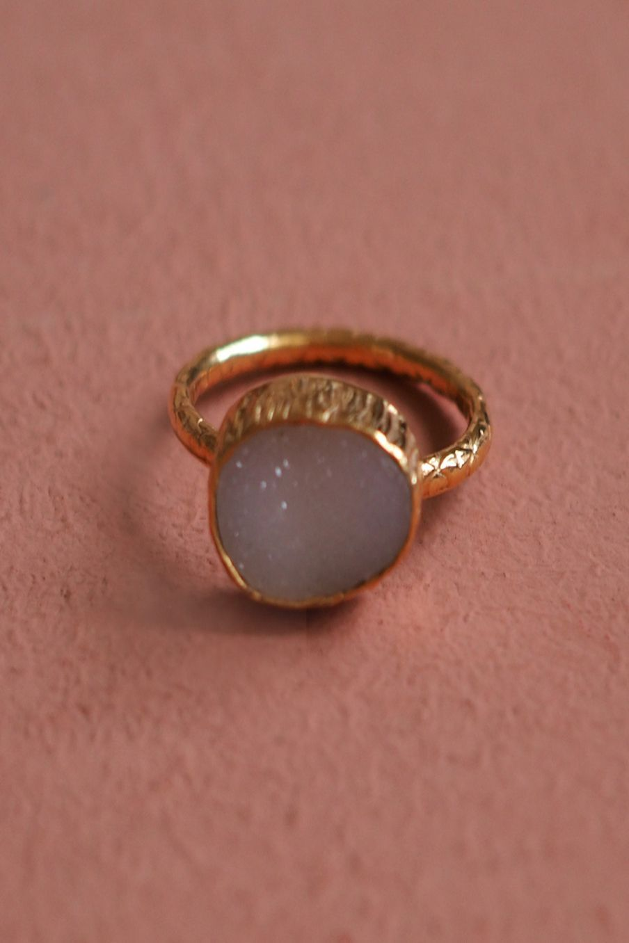 bohemian chic vintage ring woman audrey ice