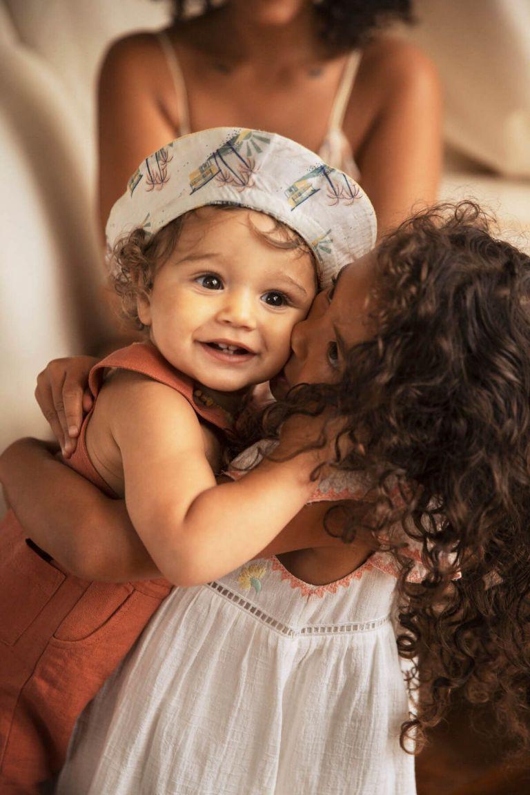 boheme chic vintage chapeau bébé garcon afir soft honey & off-white hawaï
