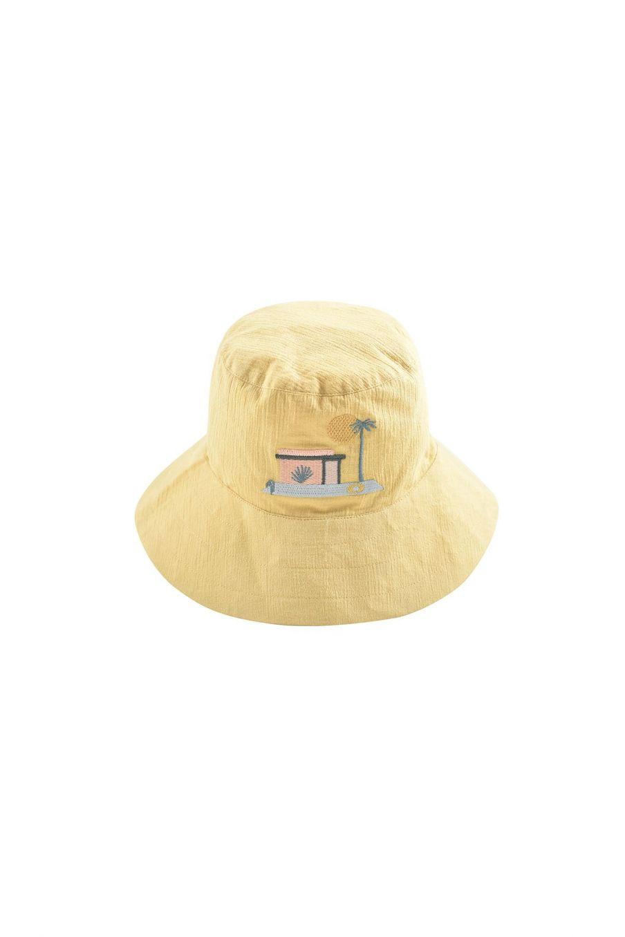 boheme chic vintage chapeau garcon afir soft honey & off-white hawaï