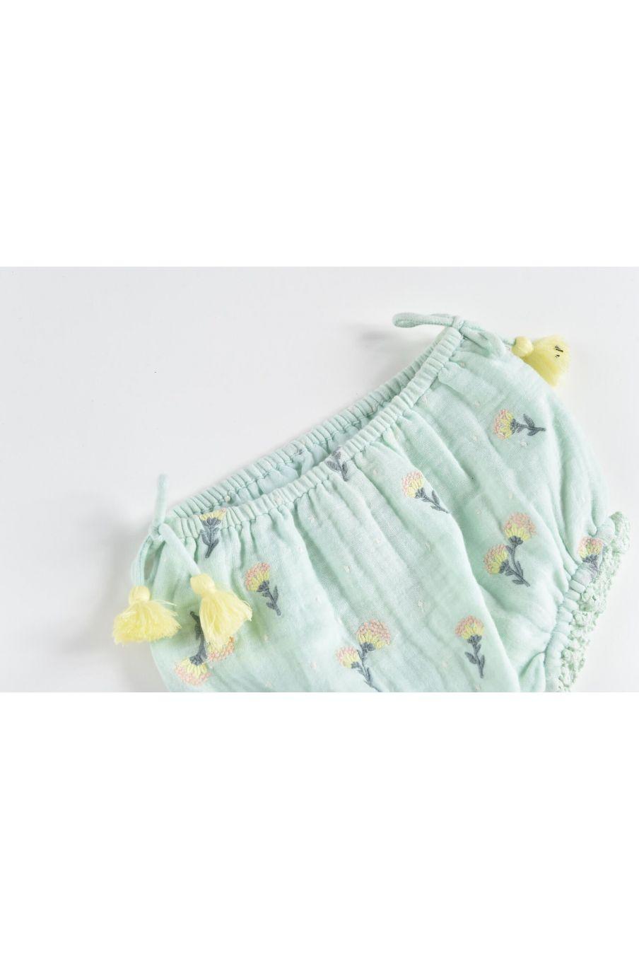 boheme chic vintage bloomer bébé fille almarico almond dandelion flowers