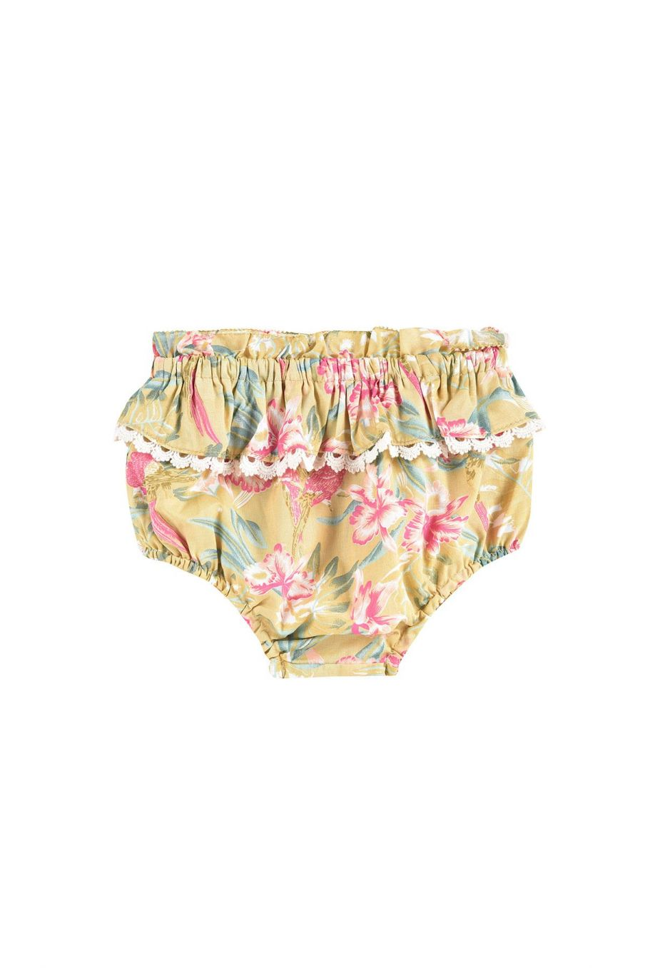 boheme chic vintage bloomer bébé fille calakmul soft honey parrots