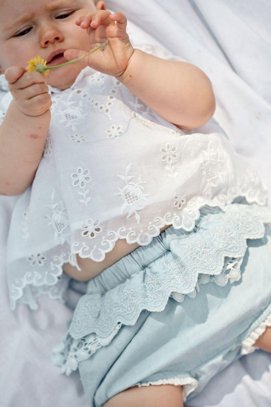 boheme chic vintage bloomer bébé fille carlosa chambray