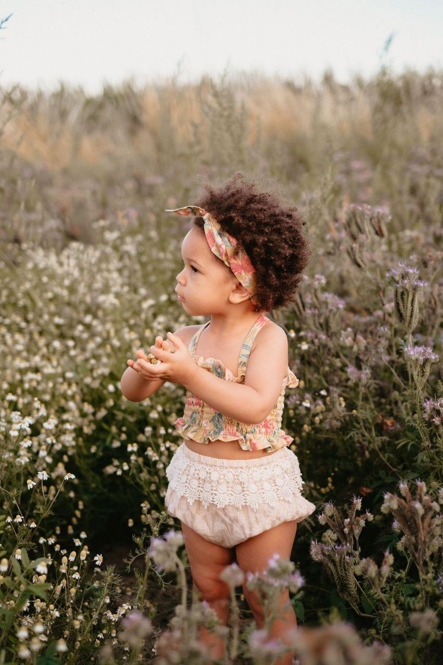 boheme chic vintage bloomer bébé fille mavaria blush psyche lurex