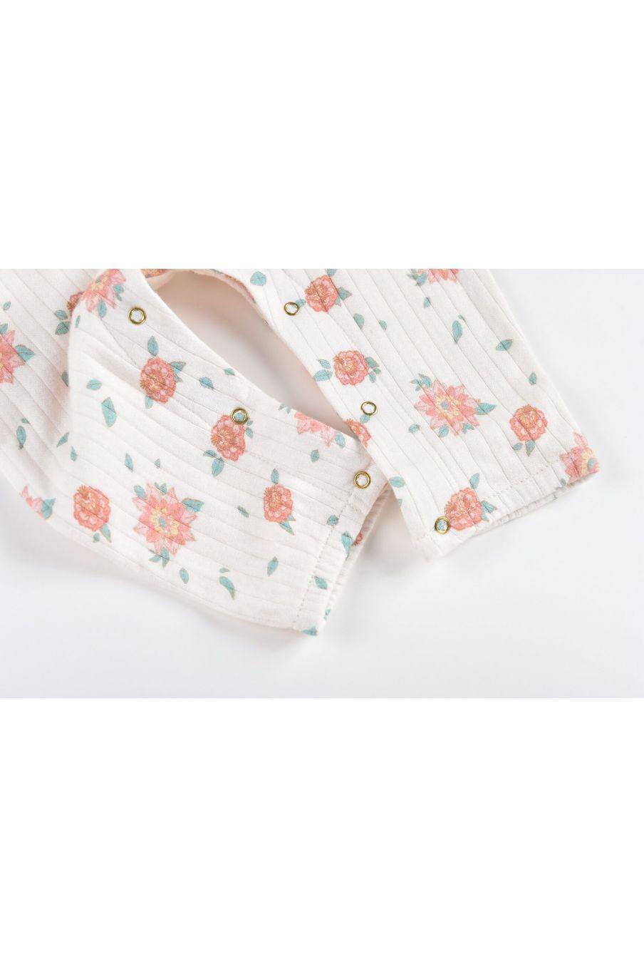 boheme chic vintage combinaison bébé fille abha off-white flowers