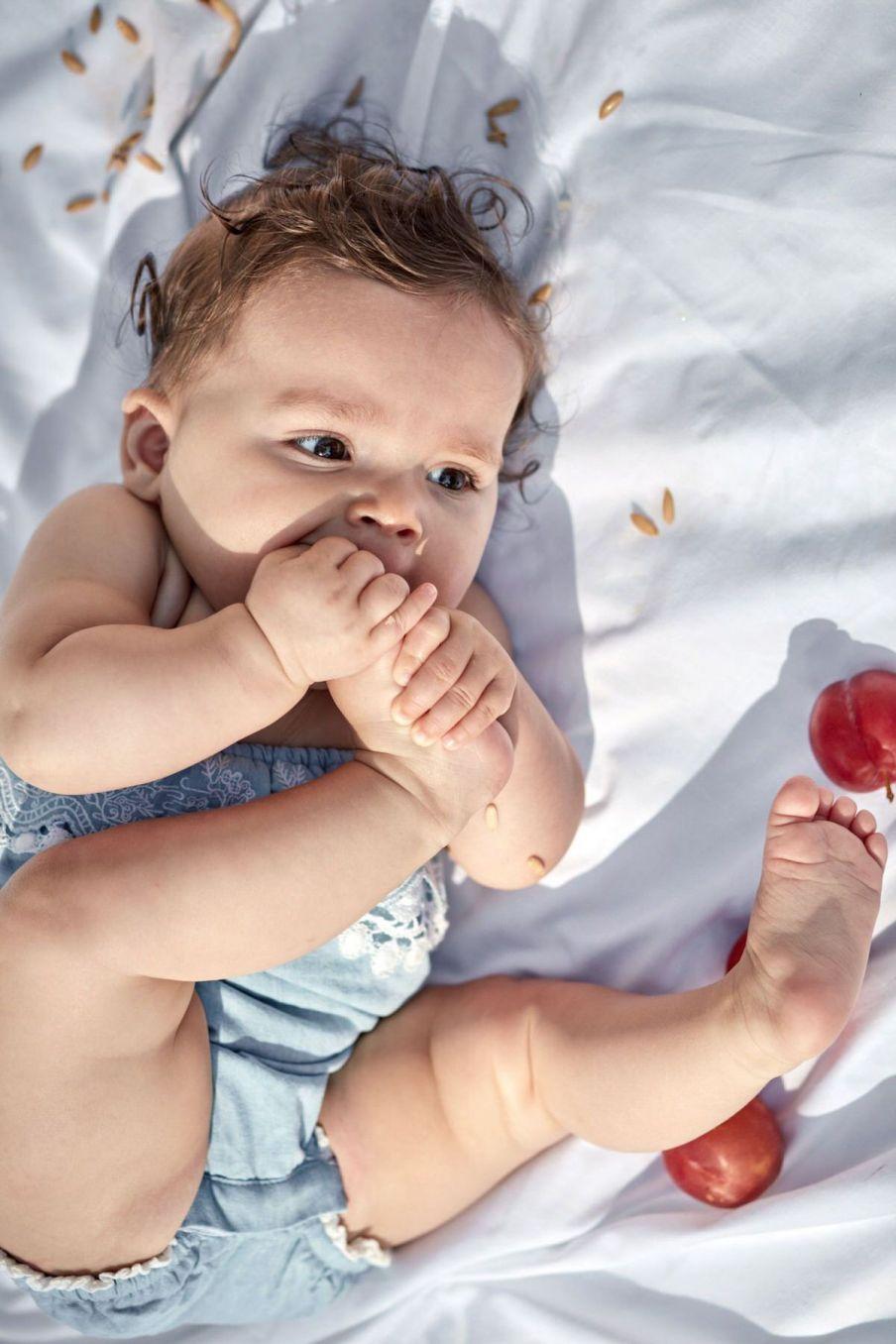 boheme chic vintage barboteuse bébé fille maluna chambray