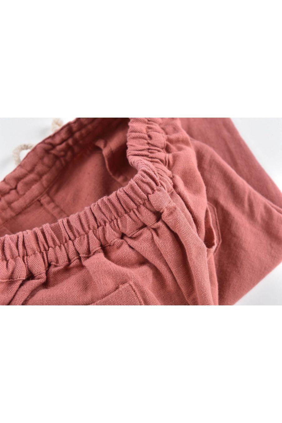 boheme chic vintage pantalon bébé garcon acilu terracota