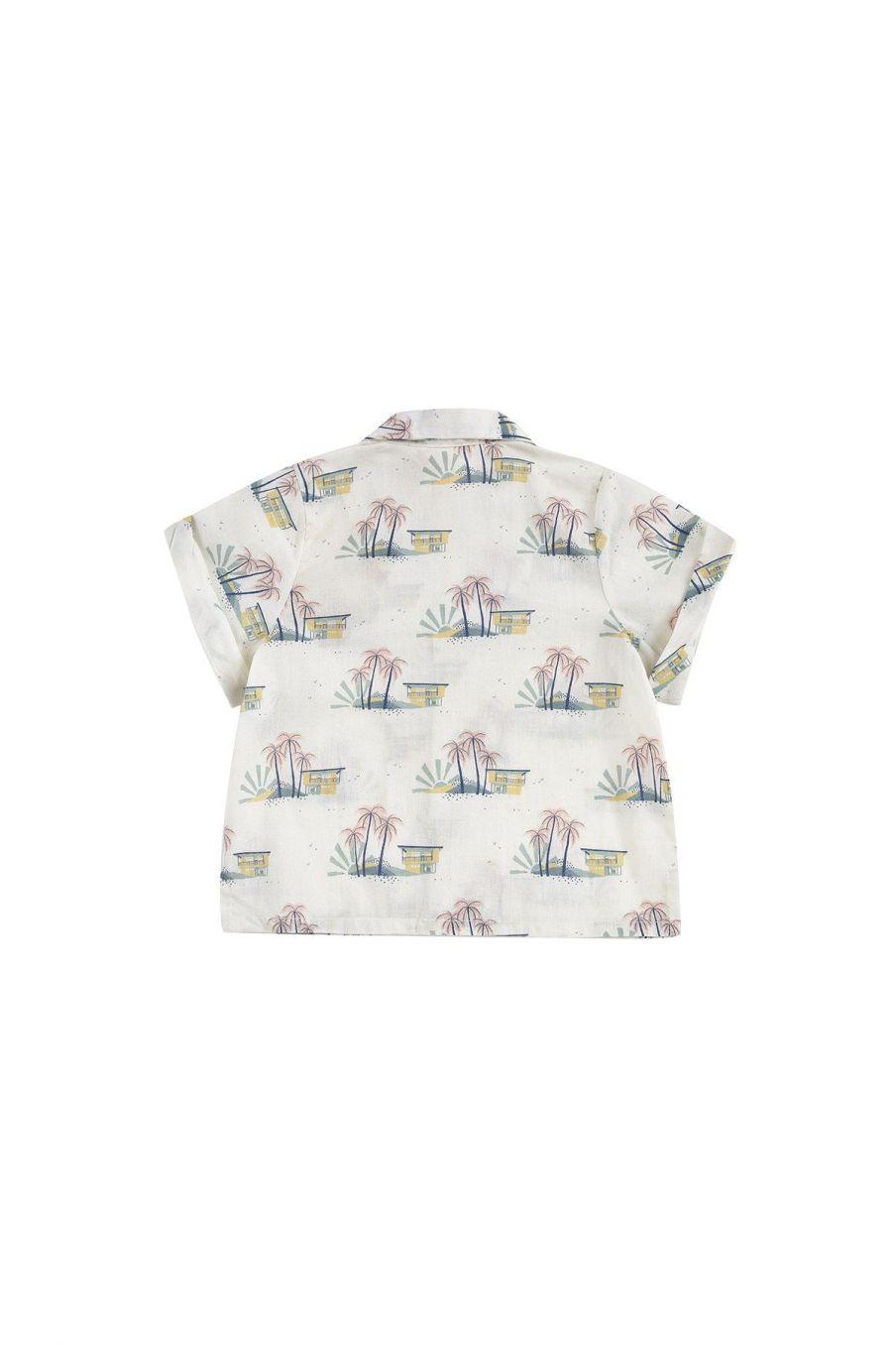 boheme chic vintage chemise bébé garcon alov off-white hawaï