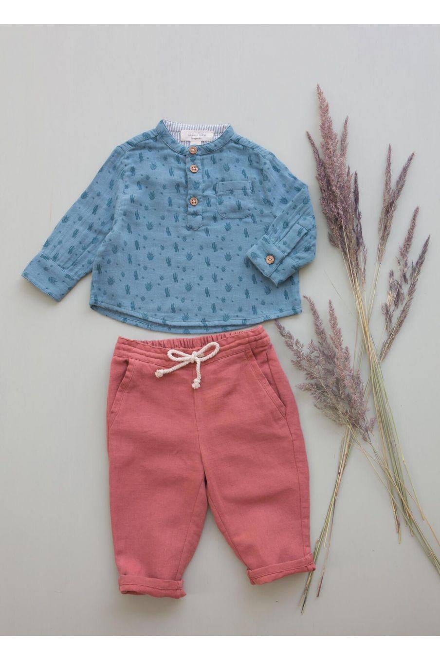 boheme chic vintage chemise bébé garcon amano storm cactus