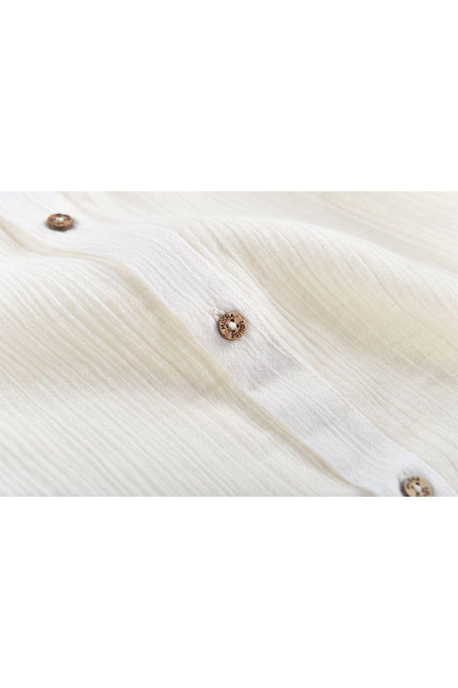 boheme chic vintage chemise garcon amod ecru