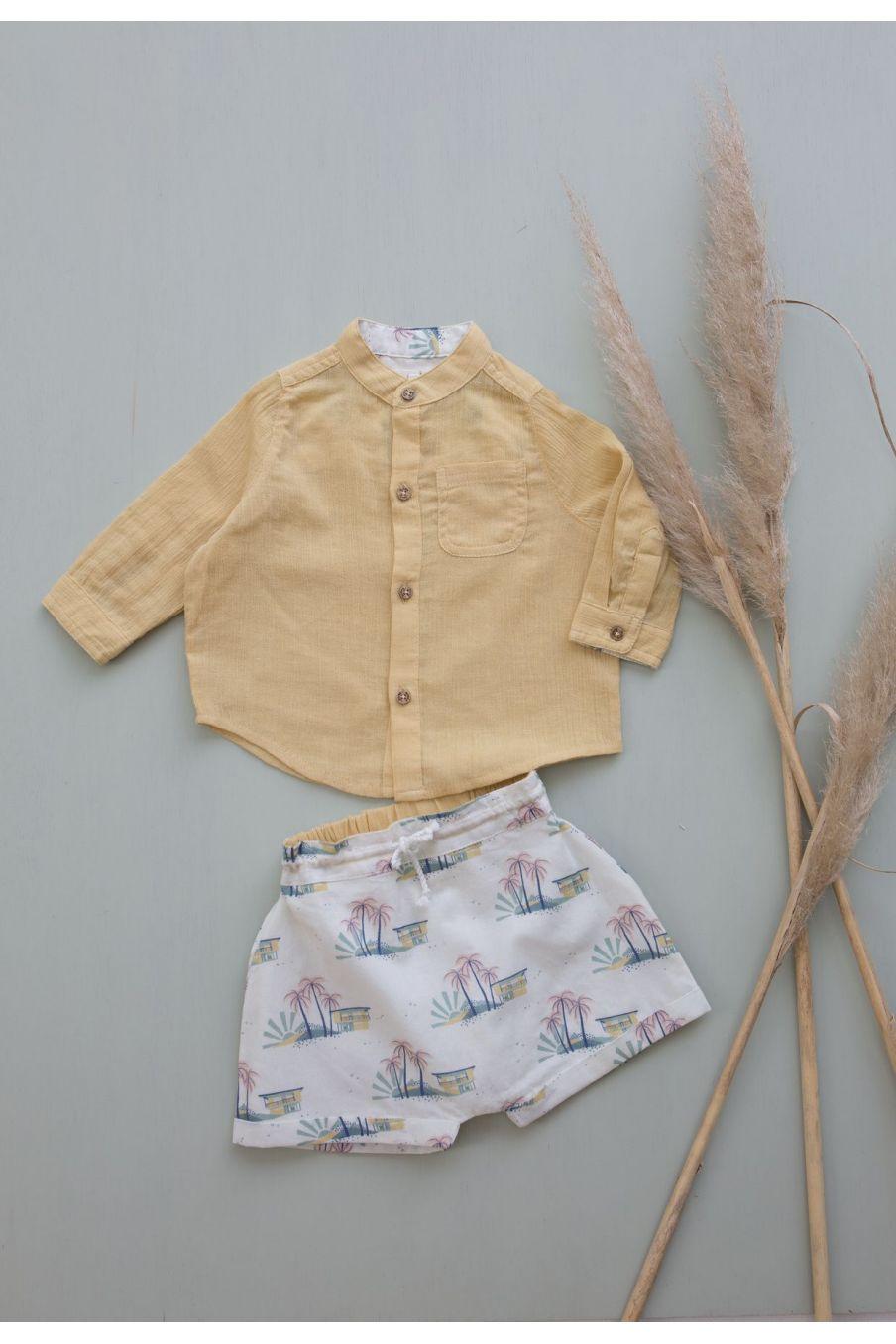 boheme chic vintage chemise bébé garcon amod soft honey