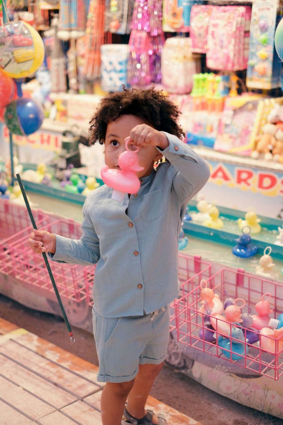 boheme chic vintage chemise bébé garcon amod vintage blue