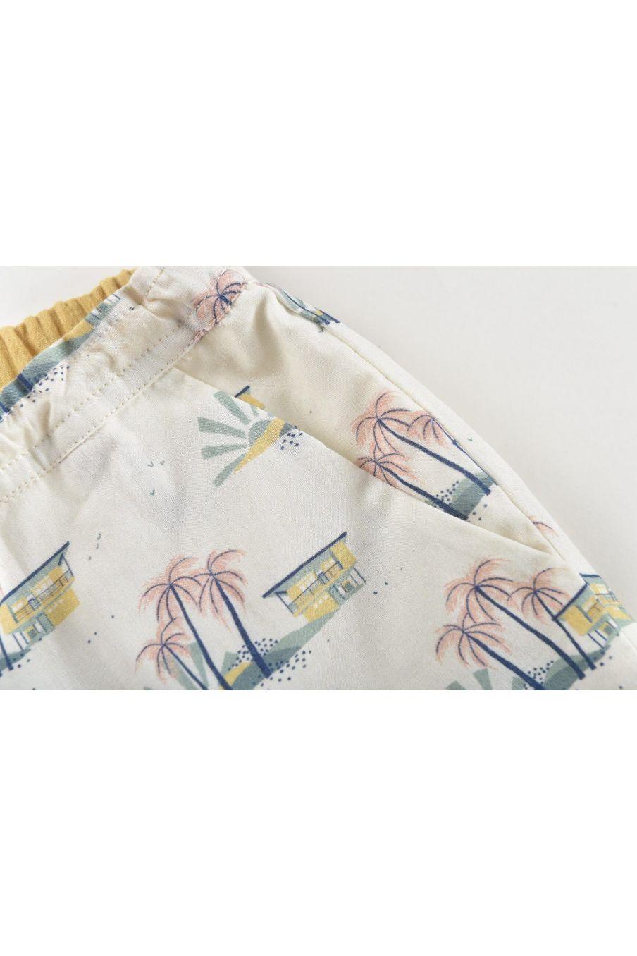 boheme chic vintage short garcon aliki off-white hawaï
