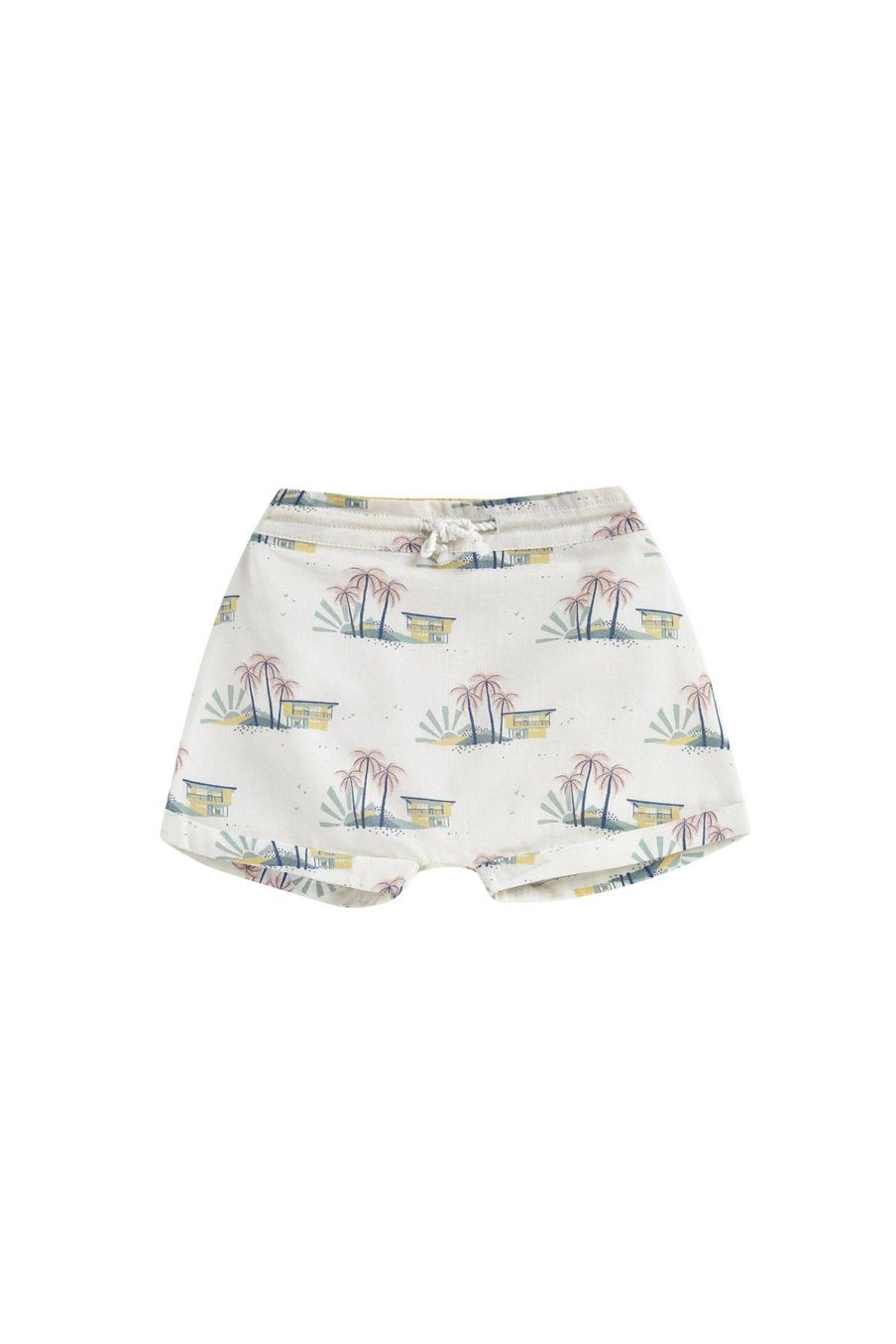 boheme chic vintage short bébé garcon aliki off-white hawaï