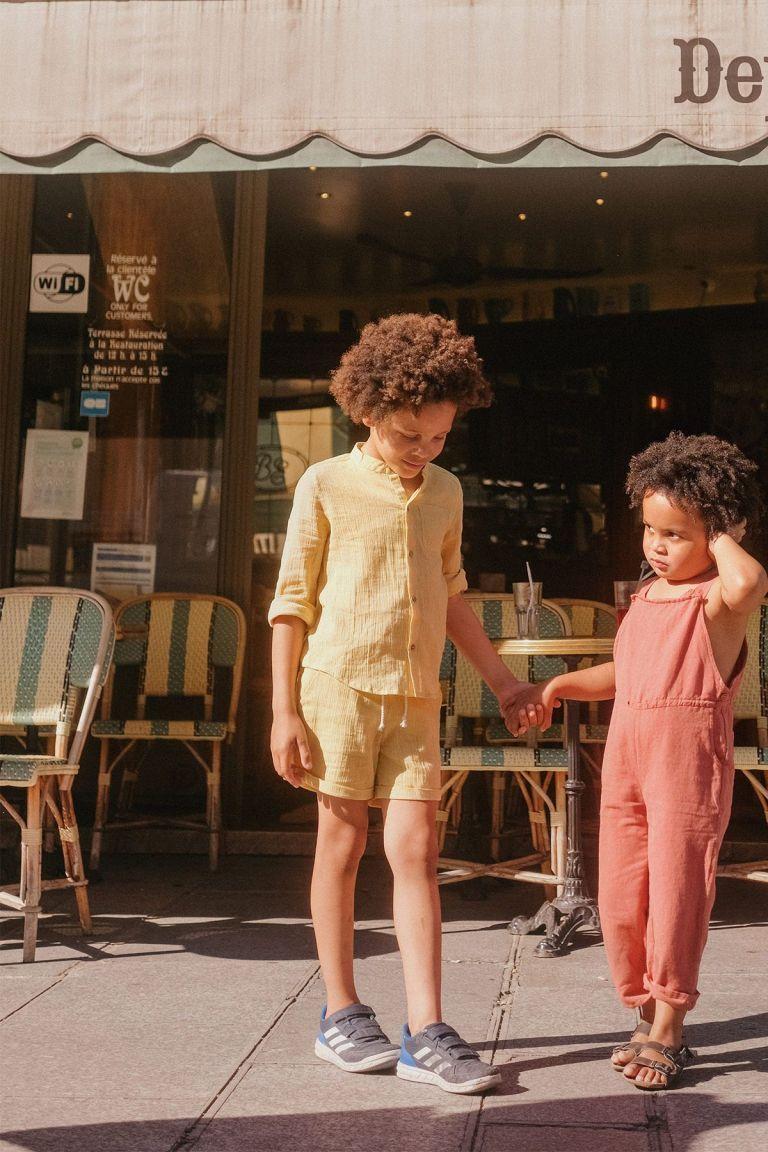 boheme chic vintage short garcon aliki soft honey