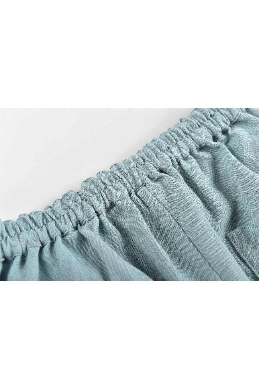 boheme chic vintage short garcon aliki vintage blue