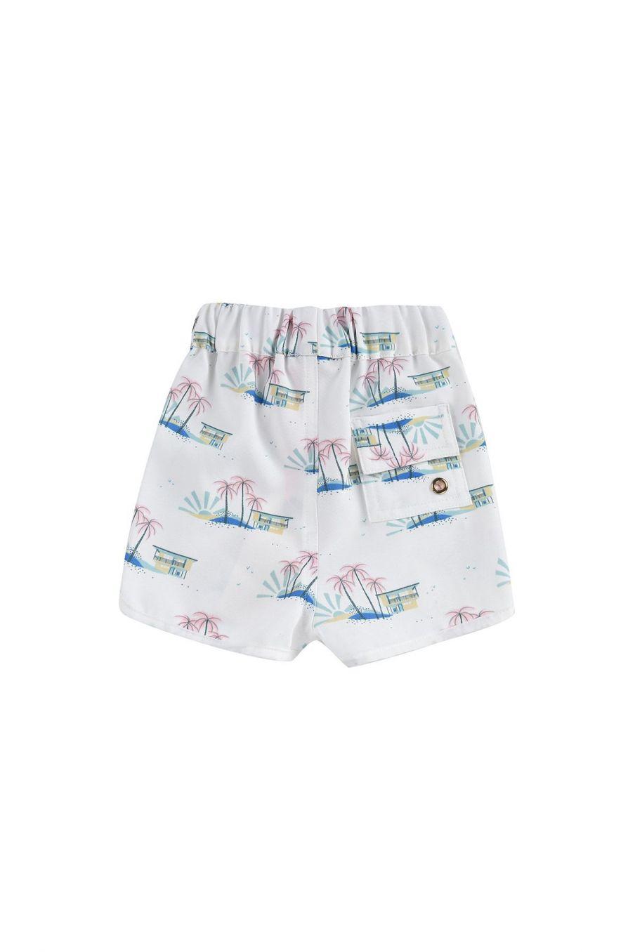 boheme chic vintage short de bain bébé garcon aderi off-white hawaï