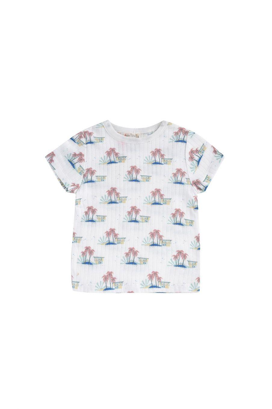 boheme chic vintage t-shirt garcon atayo off-white hawaï
