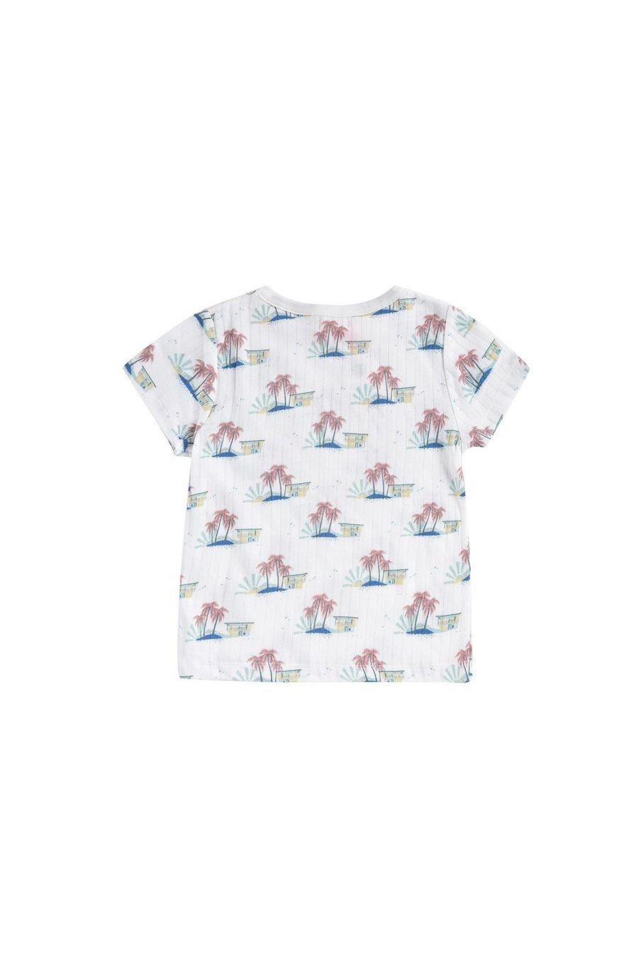 boheme chic vintage t-shirt bébé garcon atayo off-white hawaï