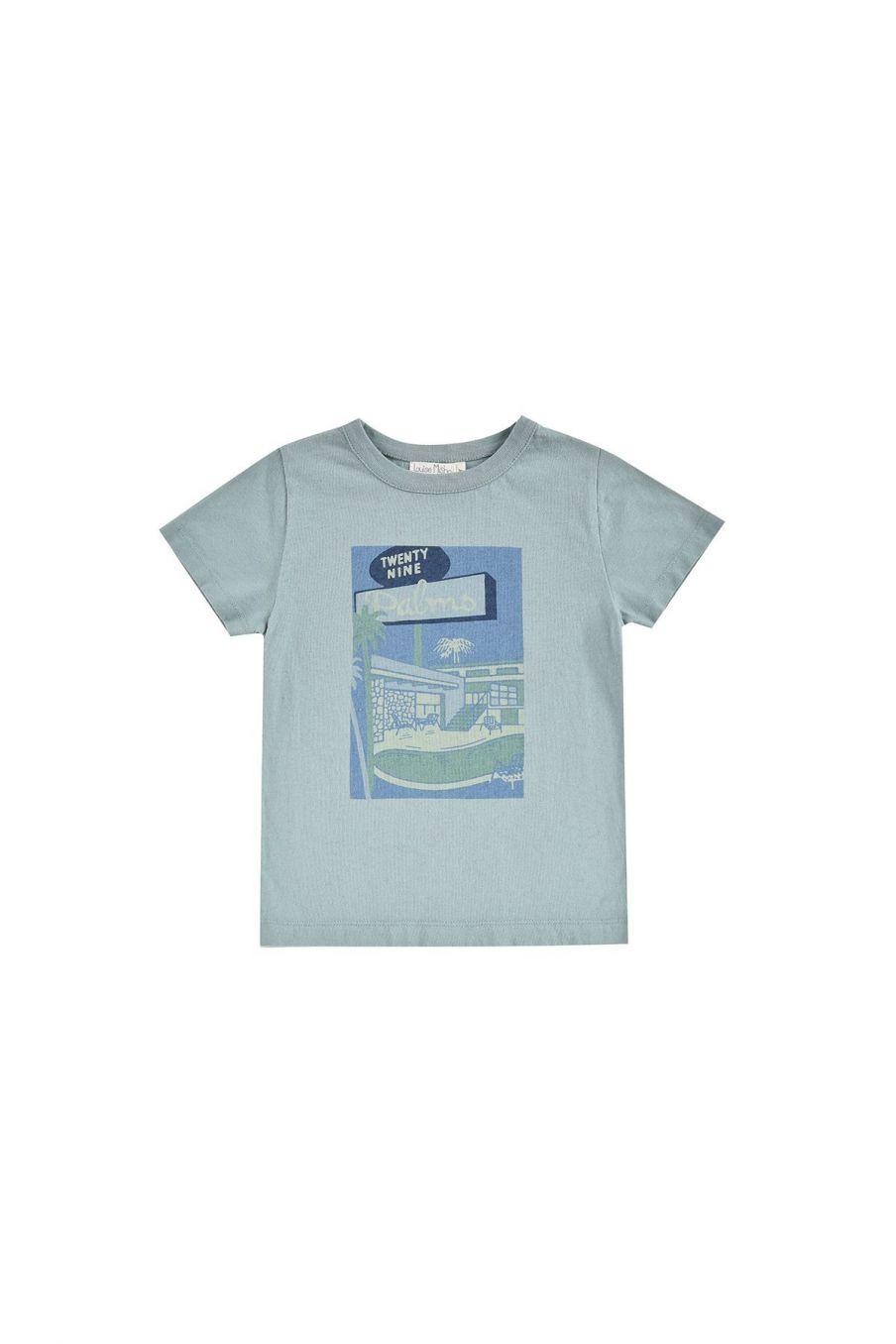 boheme chic vintage t-shirt garcon atayo vintage blue