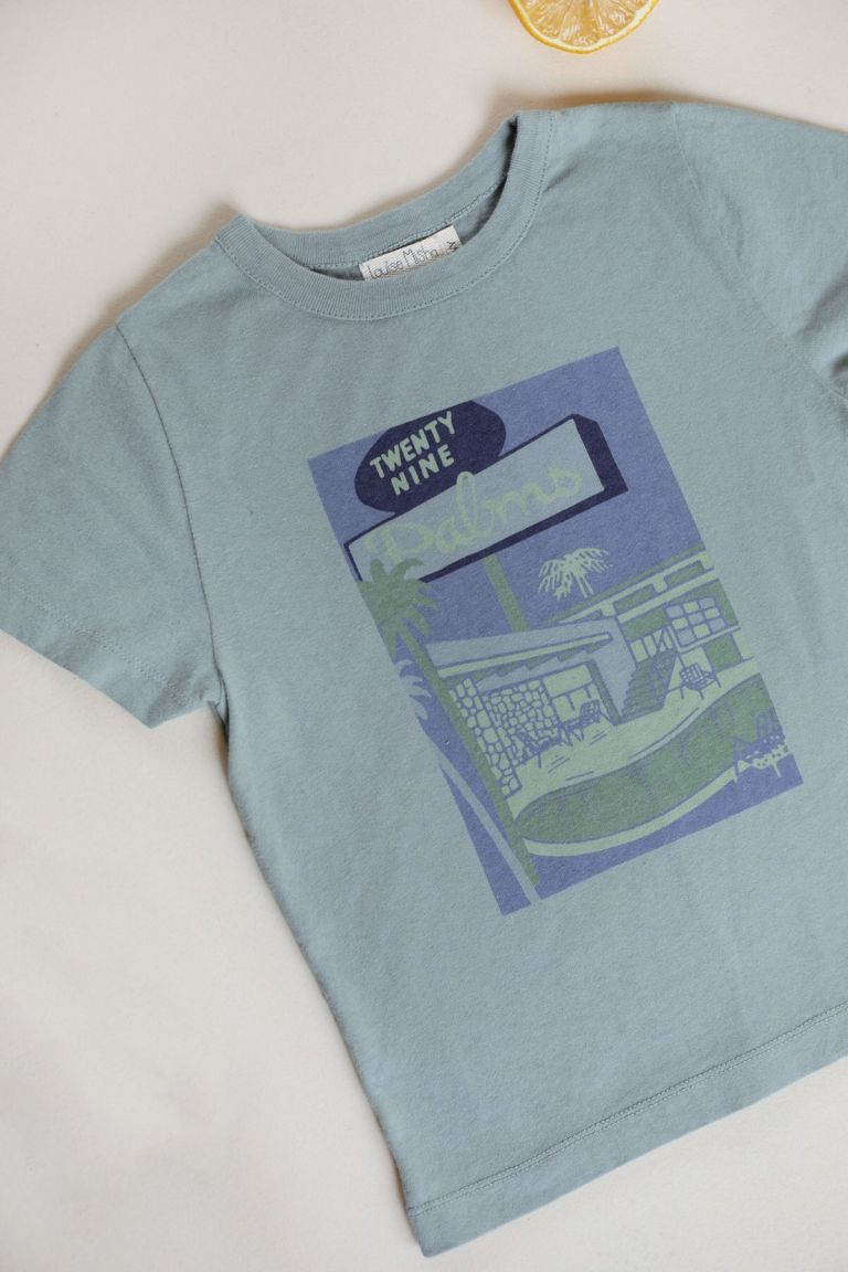 boheme chic vintage t-shirt bébé garcon atayo vintage blue