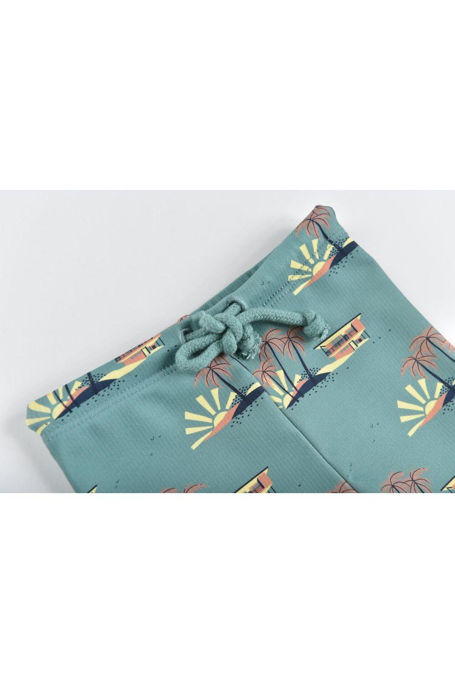 boheme chic vintage set de protection uv garcon agik vintage blue hawaï