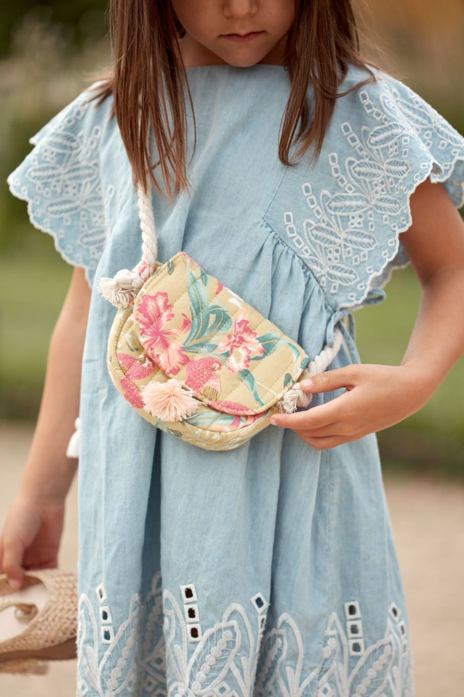 boheme chic vintage sac fille poppy soft honey parrots