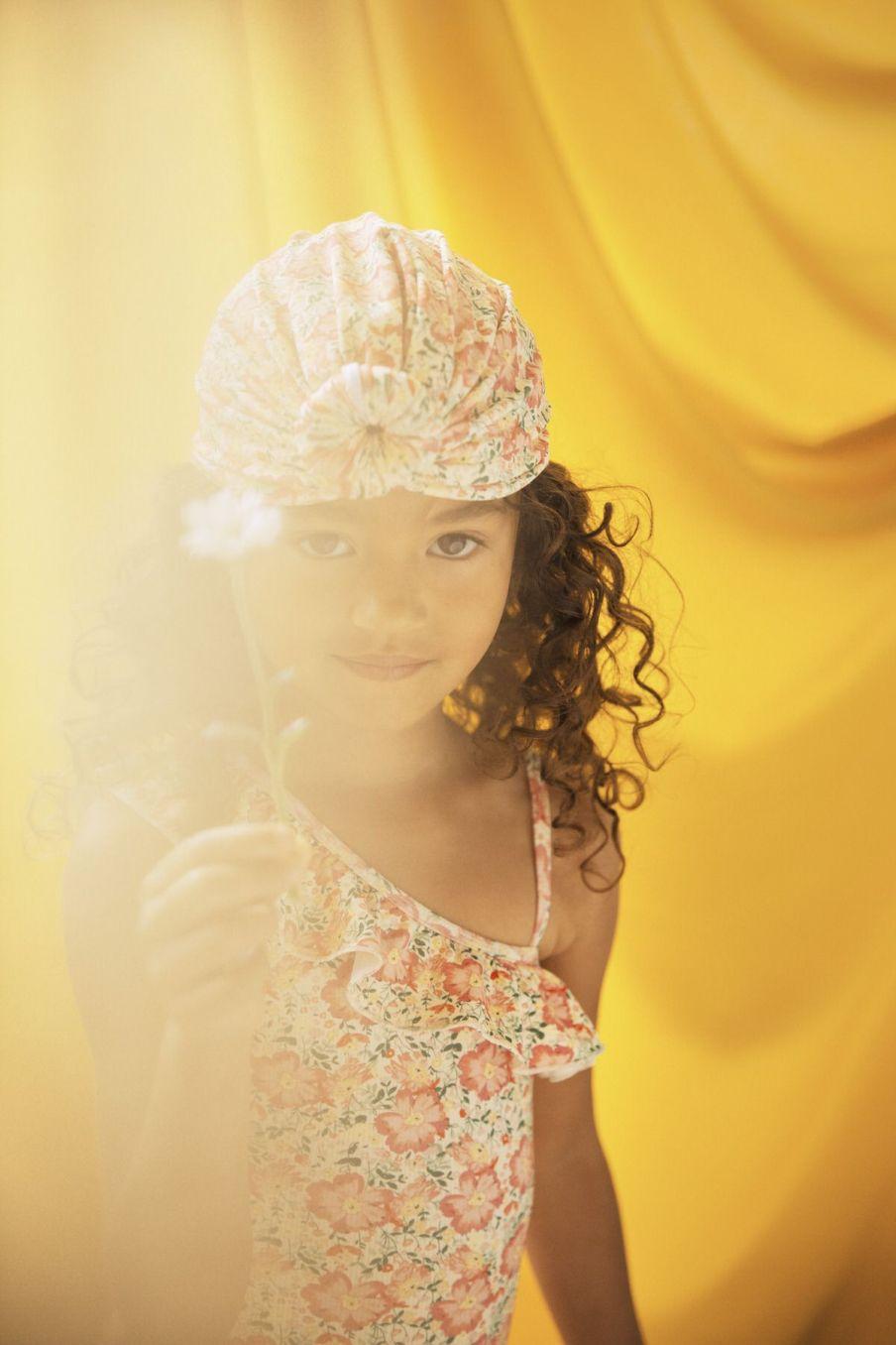 boheme chic vintage maillot de bain fille audrey pink meadow