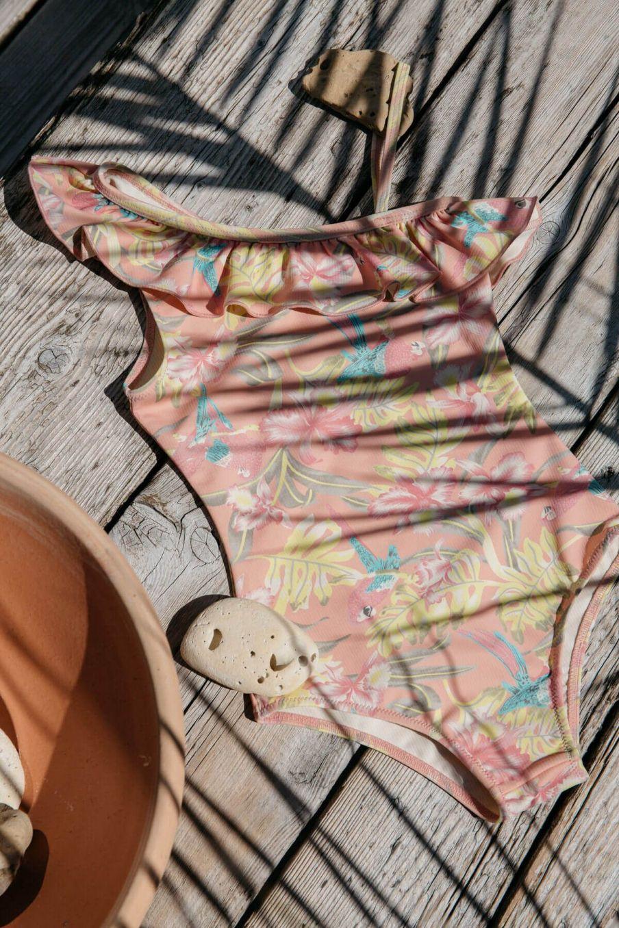 boheme chic vintage maillot de bain fille audrey sienna parrots