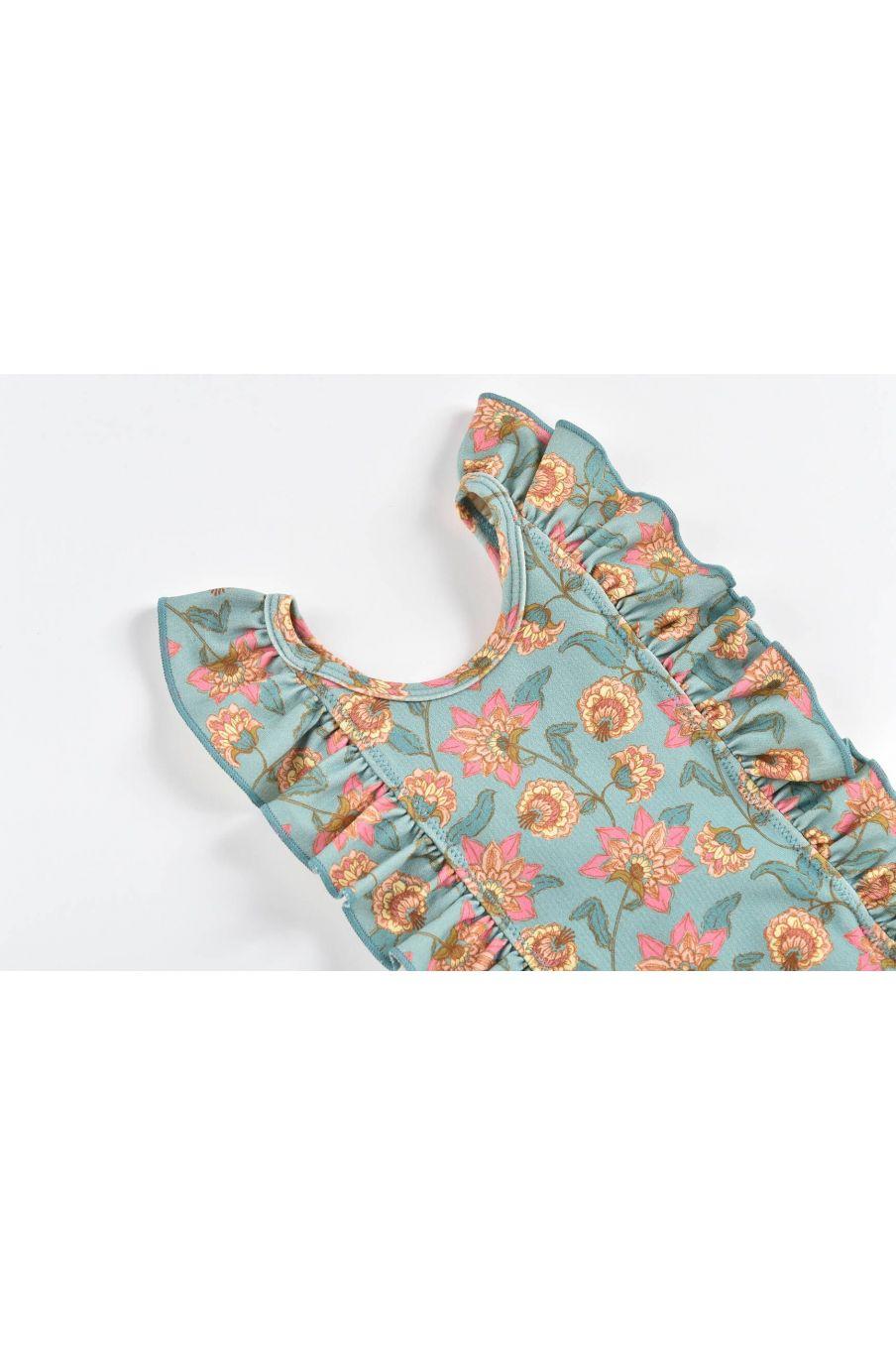 boheme chic vintage maillot de bain bébé fille mosillos turquoise flowers
