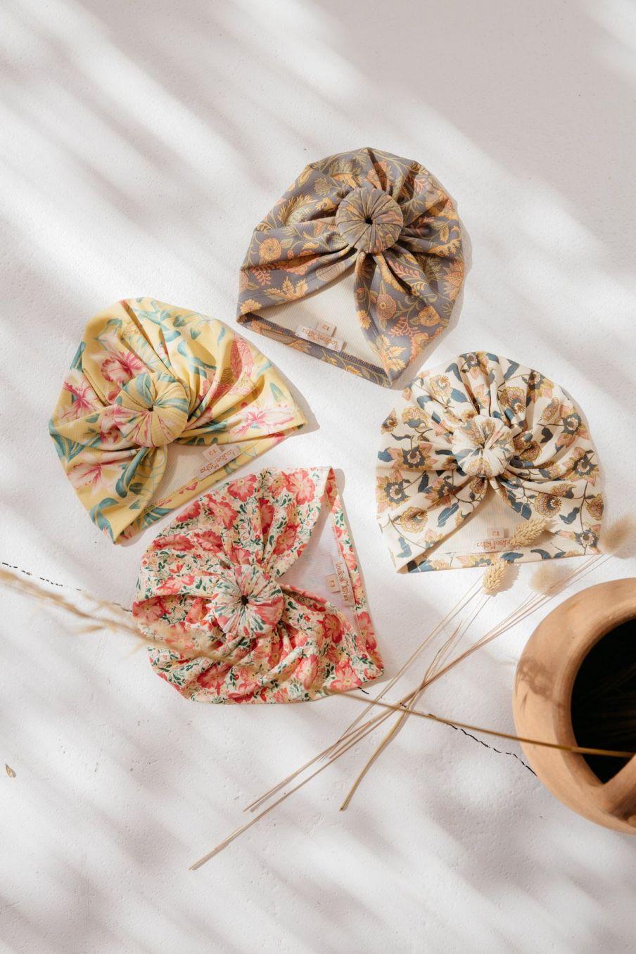 boheme chic vintage bonnet de bain bébé fille sylvania cream flowers