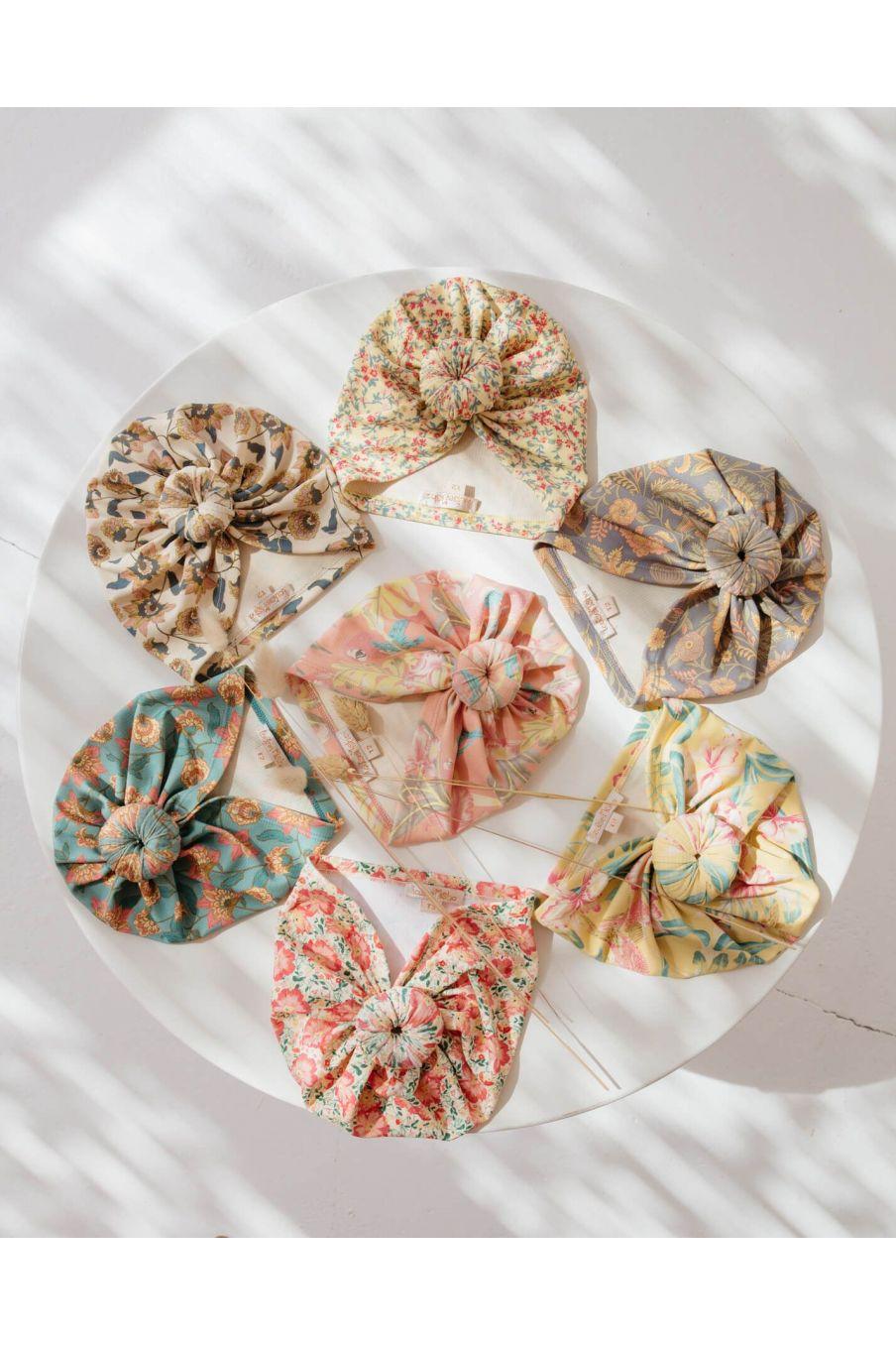 boheme chic vintage bonnet de bain fille sylvania grey california flowers